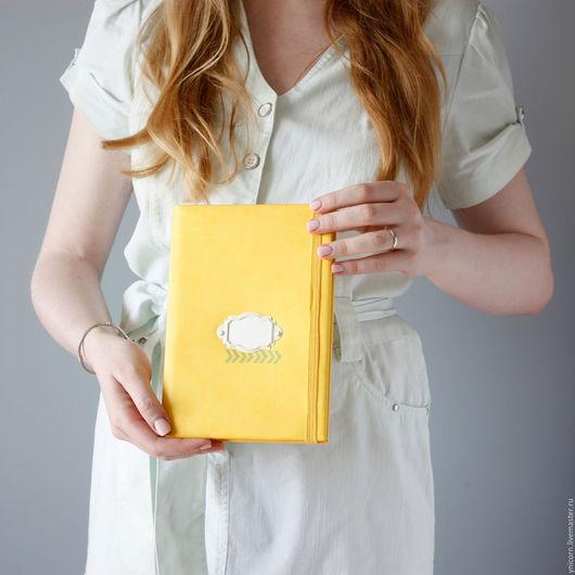 """Блокноты ручной работы. Ярмарка Мастеров - ручная работа. Купить Блокнот """"Light"""". Handmade. Желтый, эко-кожа, секрет, блокнот"""