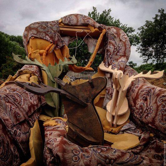 Дизайн интерьеров ручной работы. Ярмарка Мастеров - ручная работа. Купить Декоративная голова оленя на стену. Handmade. Разноцветный