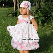 Работы для детей, handmade. Livemaster - original item dress for girl, Stefania, ed. work. Handmade.