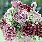 Цветы и флористика handmade. Livemaster - original item Bouquet with roses. Handmade.