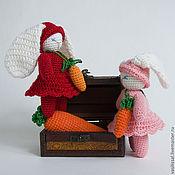 Куклы и игрушки ручной работы. Ярмарка Мастеров - ручная работа Вязаные игрушки Заяц Радужный. Handmade.