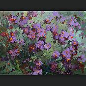 Картины и панно handmade. Livemaster - original item Autumn flowers. Handmade.