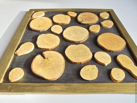 Абстракция ручной работы. Ярмарка Мастеров - ручная работа. Купить Золотые спилы (панно деревянное). Handmade. Золотой, спилы дерева