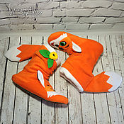 Slippers handmade. Livemaster - original item Slippers-Foxes. Handmade.
