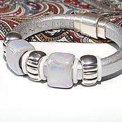 Украшения handmade. Livemaster - original item Regaliz Bracelet Silver. Handmade.