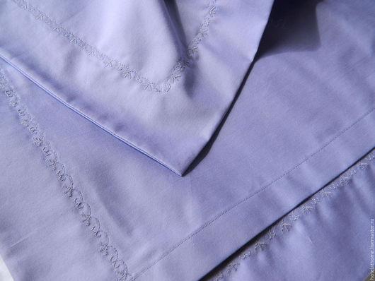 Шитье ручной работы. Ярмарка Мастеров - ручная работа. Купить Сатин лавандовый ткань для постельного белья.. Handmade. Ткань для постельного