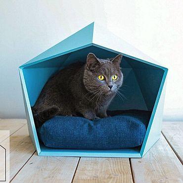 Товары для питомцев ручной работы. Ярмарка Мастеров - ручная работа Сканди домик для кошки. Handmade.