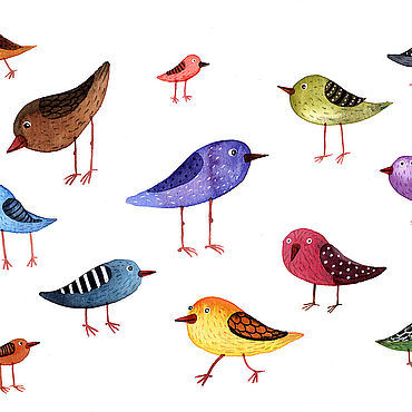 """Картины и панно ручной работы. Ярмарка Мастеров - ручная работа Картина """"Птички"""". Handmade."""