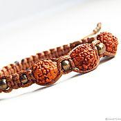 Украшения handmade. Livemaster - original item The bracelet with the Eye of Rudra Rudraksha. Handmade.