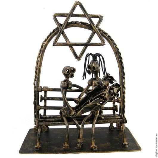 Миниатюрные модели ручной работы. Ярмарка Мастеров - ручная работа. Купить Еврейская свадьба. Handmade. Сувенир из гаек, скульптуры из металла