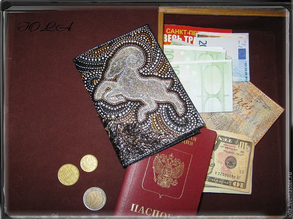 "Обложка на паспорт ""Овен""натуральная кожа, Обложки, Москва,  Фото №1"