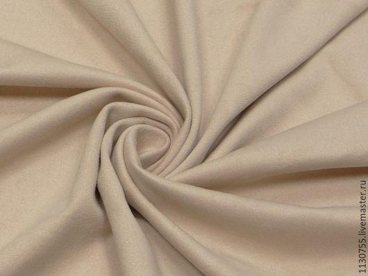 Шитье ручной работы. Ярмарка Мастеров - ручная работа. Купить Ткань замша стрейч пудровая  одежная. Handmade. Бежевый