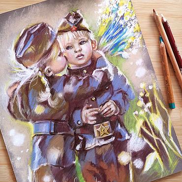 Картины и панно ручной работы. Ярмарка Мастеров - ручная работа Герои, картина пастелью. Handmade.