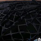 Материалы для творчества ручной работы. Ярмарка Мастеров - ручная работа Бархат на шелке стиль  Attico черный. Шелк натуральный , вискоз. Handmade.