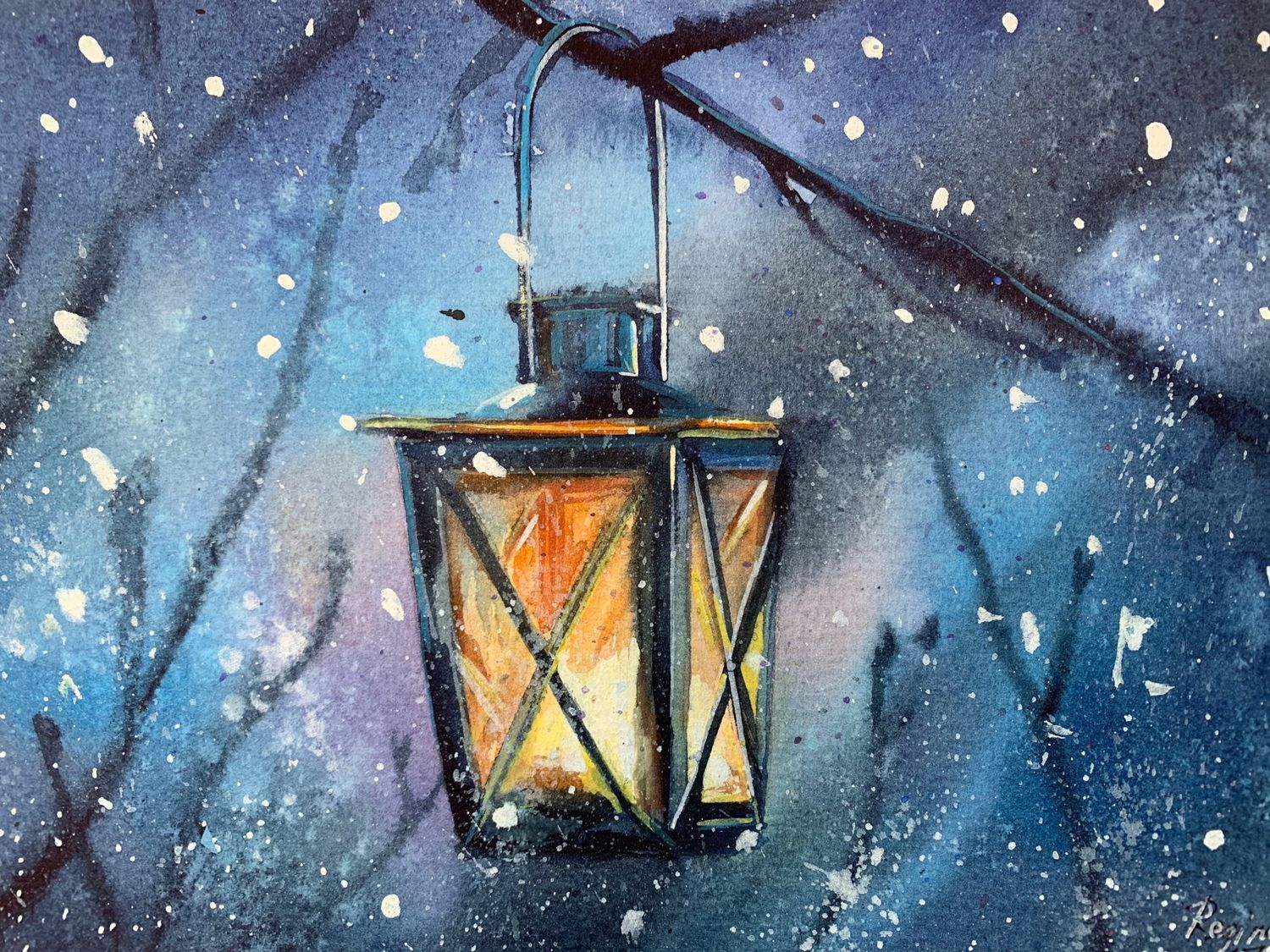 Watercolor painting ' Lantern', Pictures, Kemerovo,  Фото №1