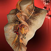 """Аксессуары ручной работы. Ярмарка Мастеров - ручная работа Шарф воротник """"Элегантная осень""""2. Handmade."""