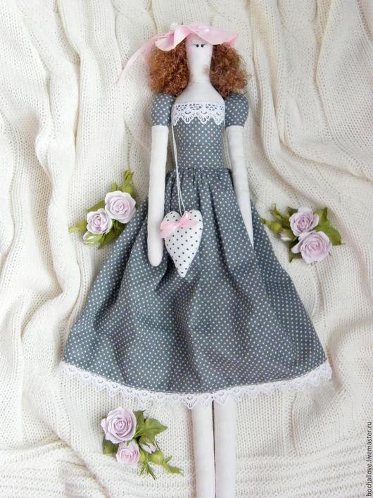 Куклы Тильды ручной работы. Ярмарка Мастеров - ручная работа. Купить Кукла Тильда. Handmade. Серый, интерьерная кукла, подарок