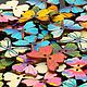 """Шитье ручной работы. Пуговицы деревянные """"Butterfly"""". Лот 50 шт.. ' Шёлковый путь' (Ольга). Интернет-магазин Ярмарка Мастеров."""
