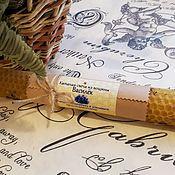 Сувениры и подарки handmade. Livemaster - original item Candle of wax with cornflower, 20cm. Handmade.