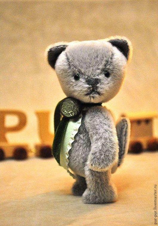 Мишки Тедди ручной работы. Ярмарка Мастеров - ручная работа. Купить Малыш Блюм Берри (Котик). Handmade. Серый, котики