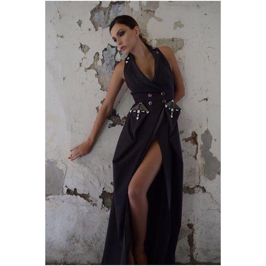 Платья ручной работы. Ярмарка Мастеров - ручная работа. Купить Платье для специального случая. Handmade. Серебряный, дизайнерское платье