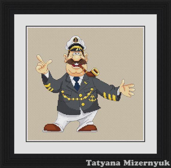 """Схема для вышивки крестиком """"Мореплаватель"""", Вышивка, Александров, Фото №1"""