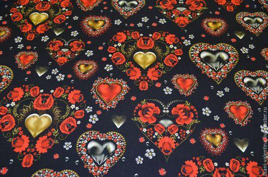 Шитье ручной работы. Ярмарка Мастеров - ручная работа. Купить Ткань шелковая итальянская D&G. Handmade. Ткань, шелк