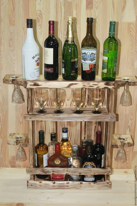 Мебель ручной работы. Ярмарка Мастеров - ручная работа. Купить Настенный бар. Handmade. Комбинированный, подставка под бутылки