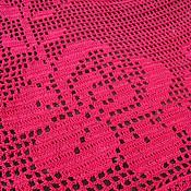 Для дома и интерьера ручной работы. Ярмарка Мастеров - ручная работа Вязаная декоративная квадратная салфетка Багрянец. Handmade.