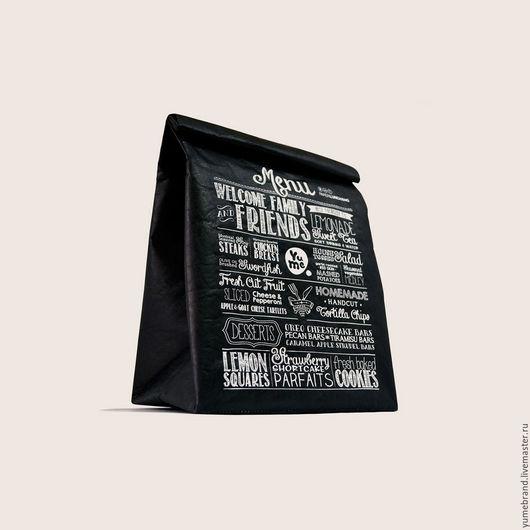 Сумки и аксессуары ручной работы. Ярмарка Мастеров - ручная работа. Купить Paper Lunch Bag / YPB-1. Handmade.
