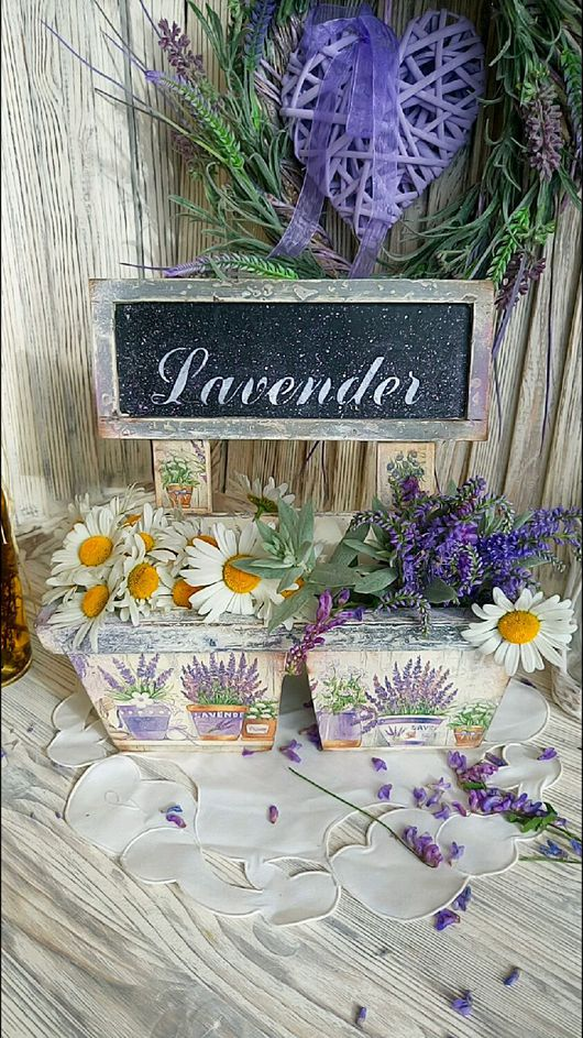 """Корзины, коробы ручной работы. Ярмарка Мастеров - ручная работа. Купить """"Lavender""""  Кашпо.. Handmade. Кашпо, еврофанера"""
