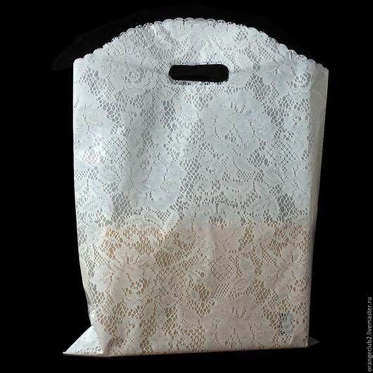 Упаковка ручной работы. Ярмарка Мастеров - ручная работа. Купить все размеры Пакет полиэтиленовый кружевной. Handmade. Пакет, полиэтилен