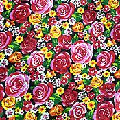 Материалы для творчества ручной работы. Ярмарка Мастеров - ручная работа Ткань бязь плательная: Розочки. Handmade.