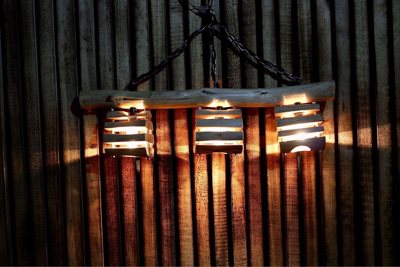 Подвесной светильник из дуба ручной работы, Потолочные и подвесные светильники, Вологда,  Фото №1