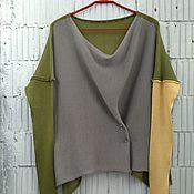 Одежда ручной работы. Ярмарка Мастеров - ручная работа КН_003_ОШСер Блузон 3-хцветный. Handmade.