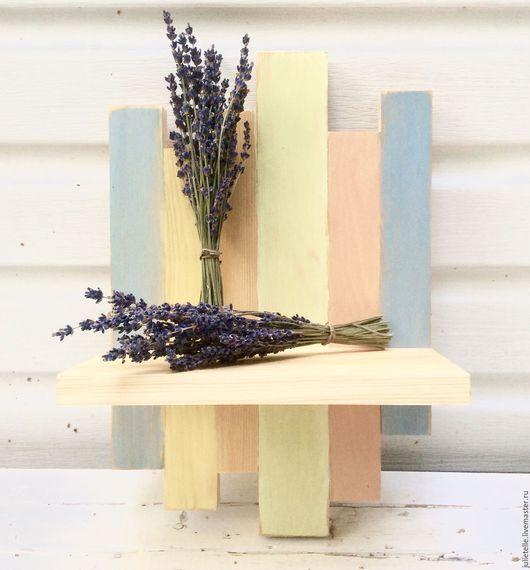 Мебель ручной работы. Ярмарка Мастеров - ручная работа. Купить Полочка для цветов. Handmade. Комбинированный, полоска, новосенье, дизайн, свадьба