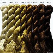 Нитки ручной работы. Ярмарка Мастеров - ручная работа Шелковые нитки для вышивания, 100% шелк. Handmade.