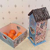 Для дома и интерьера ручной работы. Ярмарка Мастеров - ручная работа Комплект для кухник Blue Birds. Handmade.
