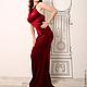 """Платья ручной работы. Рубиновое платье из бархата """" Драгоценный камень"""". SILIRA BRAND Дизайнерская одежда. Интернет-магазин Ярмарка Мастеров."""