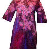 Одежда handmade. Livemaster - original item Batik Dress felted Pink Orchid. Handmade.