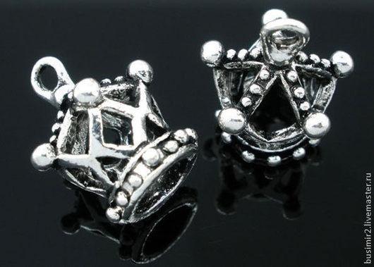 Подвеска, цвет - античное серебро. Фурнитура для создания украшений. Busimir