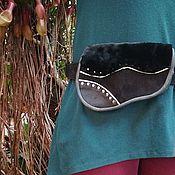 Сумки и аксессуары handmade. Livemaster - original item Copy of Copy of Copy of Leather and suede waist bag. Handmade.