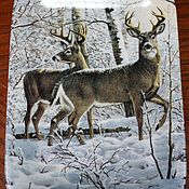 Винтаж handmade. Livemaster - original item Beautiful wall mural of a winter landscape