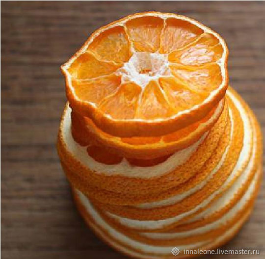 Dried Mandarin slices, Materials for floristry, St. Petersburg, Фото №1