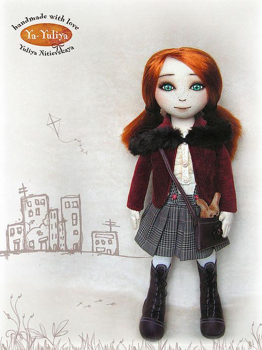 Коллекционные куклы ручной работы. Ярмарка Мастеров - ручная работа. Купить Кукла Алина. Handmade. Рыжий, девочка, ситец, тресс
