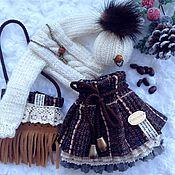 """Куклы и игрушки ручной работы. Ярмарка Мастеров - ручная работа """"Капучино"""" комплект одежды для куклы. Handmade."""
