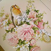 Картины и панно ручной работы. Ярмарка Мастеров - ручная работа Свадебные малиновки. Handmade.