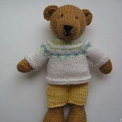 Куклы и игрушки ручной работы. Ярмарка Мастеров - ручная работа Мишка медвежонок мишутка вязаный спицами. Handmade.