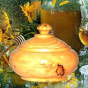 Посуда handmade. Livemaster - original item A jug with a lid made of natural Cedar Barrel For food prod. K31. Handmade.