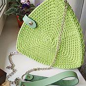 Сумка через плечо ручной работы. Ярмарка Мастеров - ручная работа Треугольная сумочка из хлопкового шнура. Handmade.